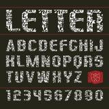 Sans serif decorative font Stock Photo