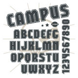 Sans serif font in college style Stock Images