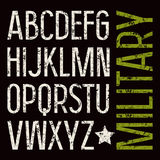 Sans serif font in military style Stock Photo