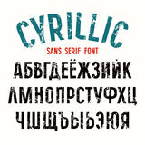 Sans serif font in newspaper style Stock Images