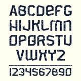 Sans serif font in retro stile Stock Image