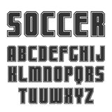 Sans serif font in sport style. With contour. Black print on a white background Royalty Free Stock Image