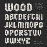 Sans serif geometric font Stock Photo