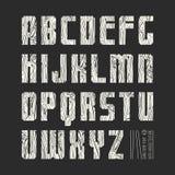 Sans serif geometric font Stock Photos
