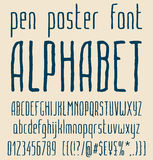 Sans-serif hand-drawn elegant pen poster minimal Stock Photos