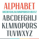 Sans serif narrow font Stock Photography