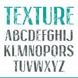 Sans serif narrow font with shabby texture Royalty Free Stock Photography