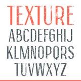 Sans serif narrow font with shabby texture Stock Photo