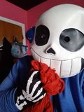 Sans the skeleton cosplay royalty free stock images