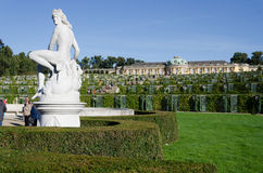 Sans Souci Gardens. Gardens of Palace of Frederick the Great, King of Prussia, in Potsdam, near Berlin Royalty Free Stock Photos