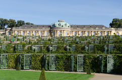 Sans Souci Gardens. Gardens of Palace of Frederick the Great, King of Prussia, in Potsdam, near Berlin Stock Photography
