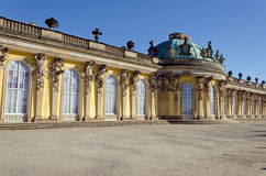 Sans Souci. Palace of Frederick the Great, King of Prussia, in Potsdam, near Berlin Royalty Free Stock Photos