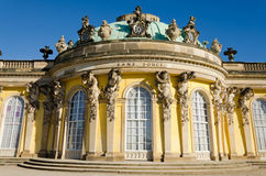 Sans Souci. Palace of Frederick the Great, King of Prussia, in Potsdam, near Berlin Royalty Free Stock Photography