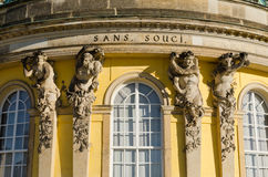Sans Souci. Palace of Frederick the Great, King of Prussia, in Potsdam, near Berlin Stock Photos
