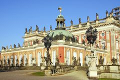 Sans souci in Potsdam. New palace in the sanssouci royal park in Potsdam in Germany Stock Images
