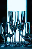 Sans verres de vin Photo stock