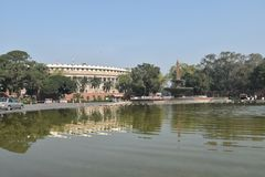 Sansad Bhavan Neu-Delhi stockbild