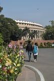 Sansad Bhavan Neu-Delhi stockfotos