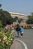 Sansad Bhavan New Delhi Zdjęcia Stock