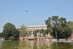 Sansad Bhavan New Delhi Photographie stock libre de droits