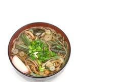 Sansai soba noodles Stock Image
