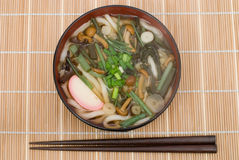 Sansai udon noodles Stock Photo