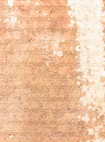 Sanscritisch geëtst in zandsteen Stock Afbeelding