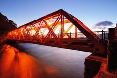 Sansen Bridge in Hokkaido, Japan Stock Photo