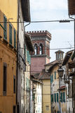 Sansepolcro - Buildings. Sansepolcro (Arezzo, Tuscany, Italy) - Old street, houses and tower Stock Photography