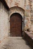 Entrance gate of medieval castle Castello Mediceo. Sansepolcro, Italy - August, 31st, 2017. Entrance gate of medieval castle Castello Mediceo Stock Photography