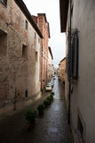 Sansepolcro. Italy. In the old town. Borgo Sansepolcro - county (city) in the Italian region Tuscany, in the province of Arezzo Royalty Free Stock Photography