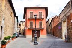 SANSEPOLCRO, W?OCHY Widok Sansepolcro ulicy obrazy royalty free