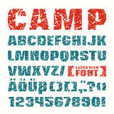 Sanserif font in military style Royalty Free Stock Image