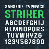 Sanserif font in sport style Stock Photo