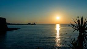 Sanset στη θάλασσα Στοκ φωτογραφία με δικαίωμα ελεύθερης χρήσης