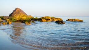 Sanset auf dem Schwarzen Meer Stockbild