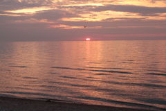 Sanset,. Baltik sea, warm, summer evening Stock Photography
