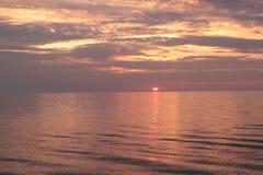 Sanset,. Baltik sea, warm, summer evening Royalty Free Stock Image
