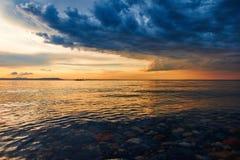 Sanset della costa Immagine Stock Libera da Diritti