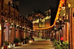 Sansia gammal gata och natt Arkivbilder