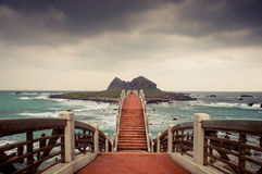 The Sansiantai with bridge in Taitung Royalty Free Stock Photo