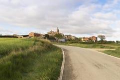 Sansol city, road to Santiago de Compostela, Navarre Stock Images