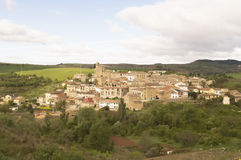 Sansol city, road to Santiago de Compostela, Navarre Royalty Free Stock Photography