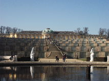 A view of the palace in Sanssouci Park, Potsdam, Germany. Potsdam is within the former GDR (East Germany Stock Images