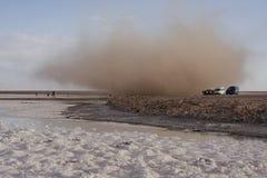 Sanspout, chile. Sandspout, Atacama desert in chile royalty free stock photos
