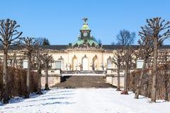 Sanssouci宫殿荷兰庭院。 波茨坦,德国。 库存图片