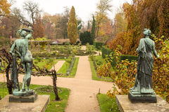 Sanssouci Garden. A park around the Sanssouci Palace in Potsdam Germany is full of villas, palaces and other royal buildings. It is a perfect place for a trip Royalty Free Stock Image