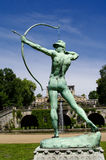 Sanssouci garden sculpture of archer in Potsdam. Near Berlin Royalty Free Stock Images