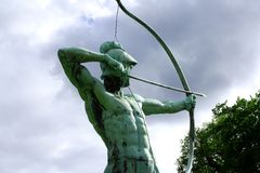 Sanssouci garden sculpture of archer in Potsdam Royalty Free Stock Images
