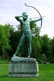 Sanssouci garden sculpture of archer in Potsdam Royalty Free Stock Photos